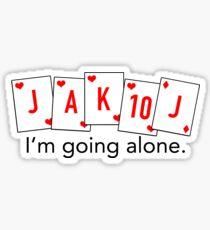 Euchre Loner Sticker