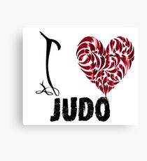 Judo T shirt Design I love judo Canvas Print