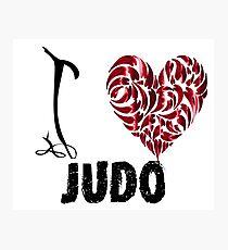 Judo T shirt Design I love judo Photographic Print
