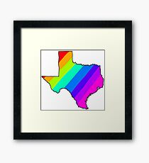 Texas rainbow  Framed Print