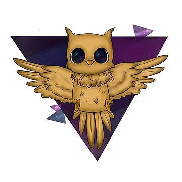 Mystery galaxy owl by RoxysArtShop