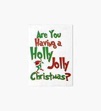 The Grinch - A Holly Jolly Christmas Art Board