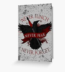 'Never Flinch, Never Fear, Never Forget' | Nevernight Greeting Card