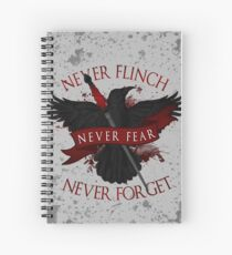 'Never Flinch, Never Fear, Never Forget' | Nevernight Spiral Notebook