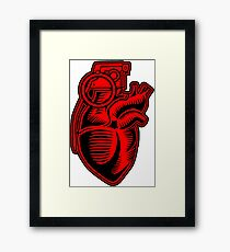 Heart Grenade Cartoon Framed Print
