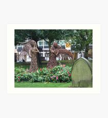 Angelic Apparitions in Central Birmingham Art Print