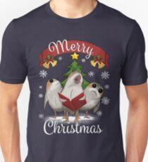 Birds Marry Christmas Unisex T-Shirt