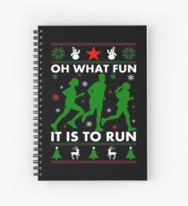Cuaderno de espiral Oh, qué divertido es correr
