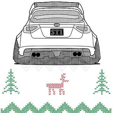 Ugly Sweater Christmas Subaru Impreza WRX STI (White) by osmancetinyapic