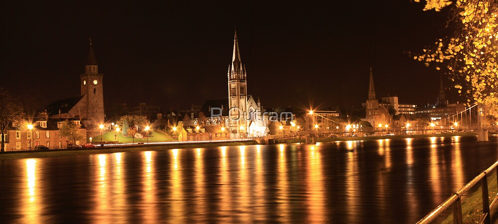 Night Steeples by R Outram