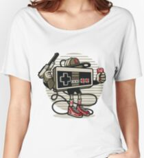 Retro Gaming Controller Cartoon Character Women's Relaxed Fit T-Shirt