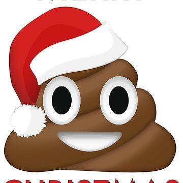 Poo Emoji Merry Christmas by Alisterny