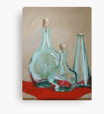 Three Bottles Canvas Print