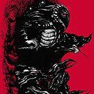 Inktober Shadows Red by Karolina Wegrzyn