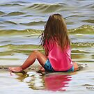 Little Girl In The Sand by Phyllis Beiser