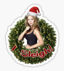 A Very Buffy Christmas Sticker