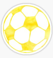Yellow Soccer Ball  Sticker