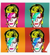 David Bowie - Andy Warhol Poster