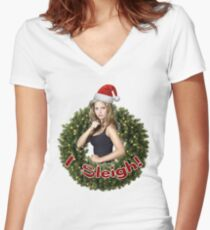 A Very Buffy Christmas Women's Fitted V-Neck T-Shirt