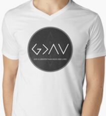 Christian Quote - God Is Higher Than Highs And Lows - Black And White Circle T-Shirt
