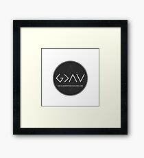 Christian Quote - God Is Higher Than Highs And Lows - Black And White Circle Framed Print