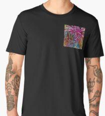 dahlia pop art, , floral abstract Men's Premium T-Shirt