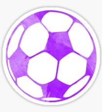 Purple Soccer Ball Sticker