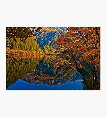 Autumn Reflection in Mirror Lake, Jiuzhaigou Photographic Print