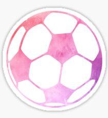 Balón de fútbol púrpura Pegatina