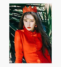 RED VELVET PEEK-A-BOO IRENE Photographic Print
