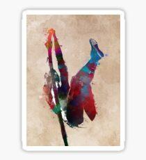 pole vault art 1 #athletics #sport Sticker