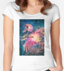 The awesome beauty of the Orion Nebula  Women's Fitted Scoop T-Shirt