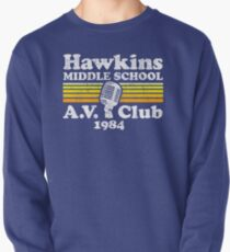 Hawkins Middle School A.V. Club Pullover Sweatshirt