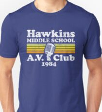 Hawkins Mittelschule AV Club Slim Fit T-Shirt