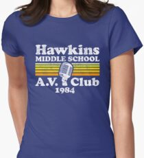 Hawkins Middle School A.V. Club Women's Fitted T-Shirt