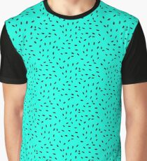 Strawberry Seeds   Teal Graphic T-Shirt