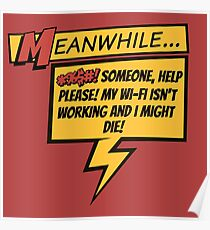 Comic Book Wifi Poster