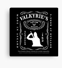 Valkyrie's Liquor - Bottled At Korg's Canvas Print