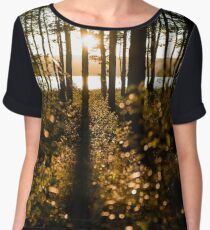 Sunset at the Pine Forest Chiffon Top