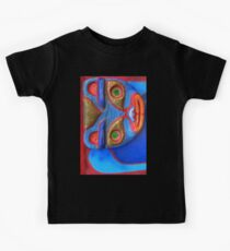 Blue Cat (big rotated) Kids Clothes