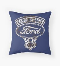 Oil Stained Ford Sign Throw Pillow