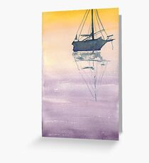 Sunrise sailboat in the Maritimes Greeting Card