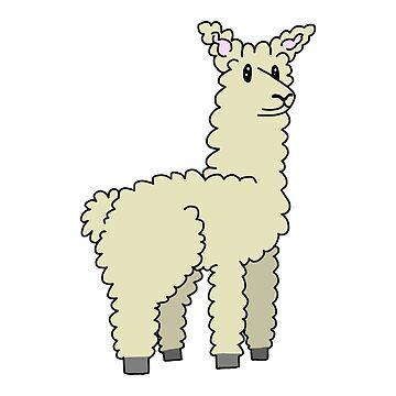 Adorable Llama by StabbedPanda