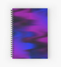 Keep It Wavy (purple, blue, black) Spiral Notebook