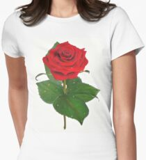 Single Red Rose with Raindrops T-Shirt