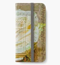 Collaged White Rose iPhone Wallet/Case/Skin
