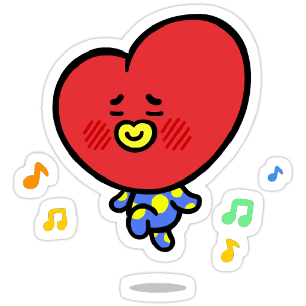 Quot Bts Tata Quot Stickers By Klee12 Redbubble