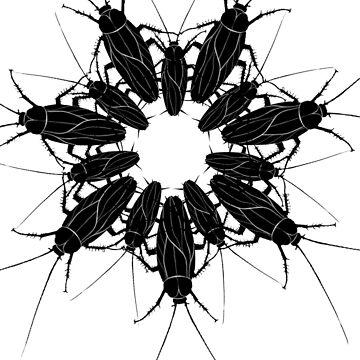 cockroach lace mandala by burenkaUA