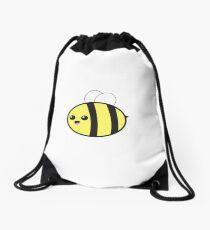Smiling Bumble Bee Drawstring Bag