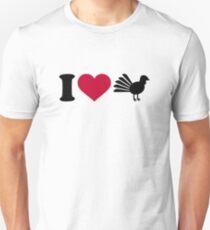 I love Turkey bird Unisex T-Shirt